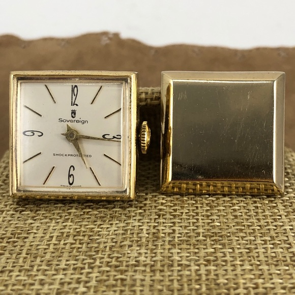 Sovereign Other - Vintage Sovereign Cufflinks Gold Tone Watch